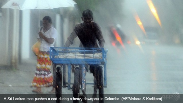13 dead as monsoon triggers havoc in Sri Lanka capital - Channel NewsAsia