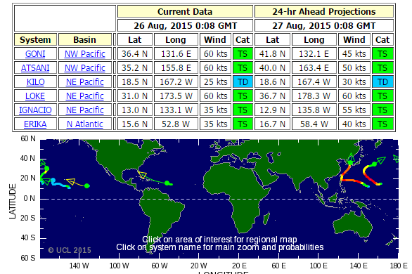 Tropical Storm Risk  TSR  for long range forecasts of hurricane  typhoon and cyclone worldwide