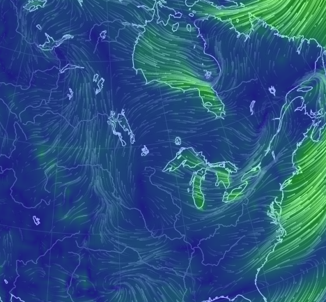earth    an animated map of global wind, weather, and ocean conditions